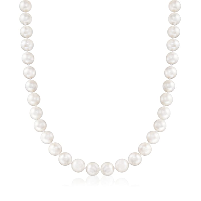 10-11mm Cultured Pearl Necklace with Sterling Silver Magnetic Clasp