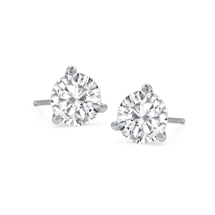 1.00 ct. t.w.Diamond Martini Stud Earrings in Platinum