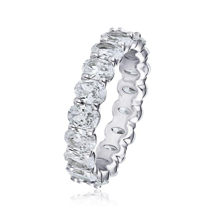 5.05 ct. t.w. Diamond Eternity Wedding Band in Platinum