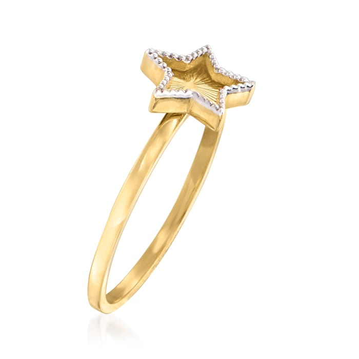 14kt Two-Tone Gold Star Ring