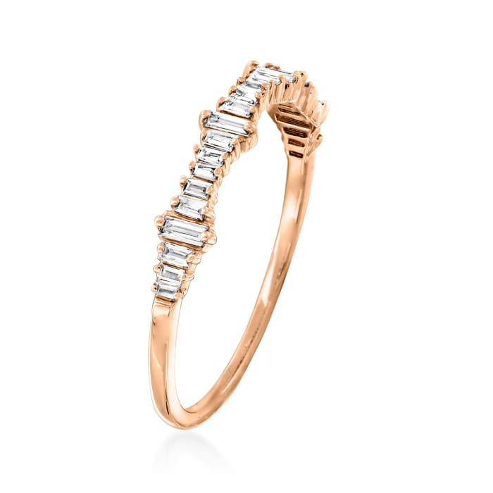 .20 ct. t.w. Baguette Diamond Ring in 14kt Rose Gold