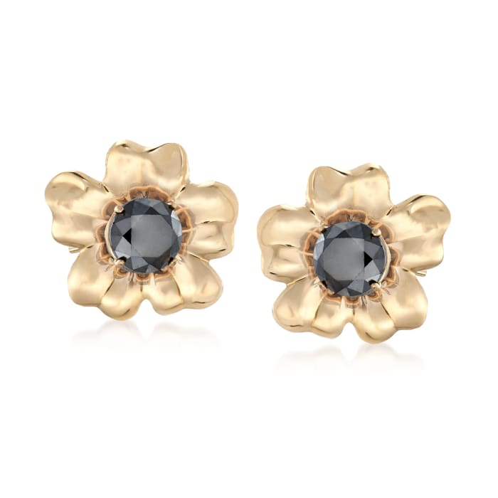 14kt Yellow Gold Flower Petal Earring Jackets