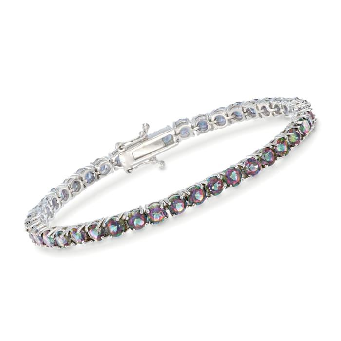 14.00 ct. t.w. Mystic Topaz Tennis Bracelet in Sterling Silver