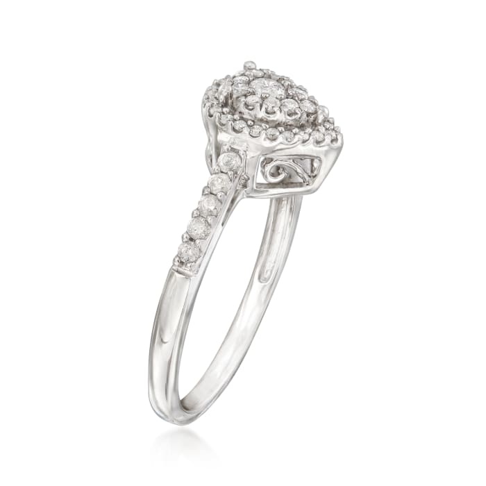 .40 ct. t.w. Diamond Pear-Shaped Cluster Ring in Sterling Silver