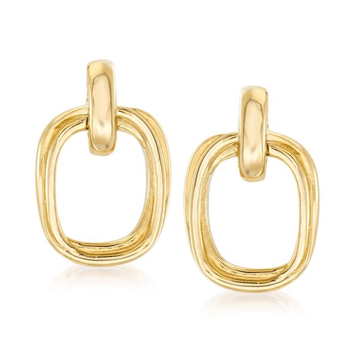 14kt Yellow Gold Doorknocker Earrings
