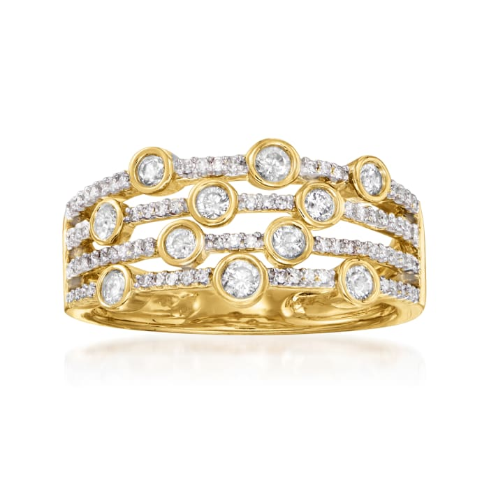 .50 ct. t.w. Diamond Multi-Row Ring in 14kt Yellow Gold