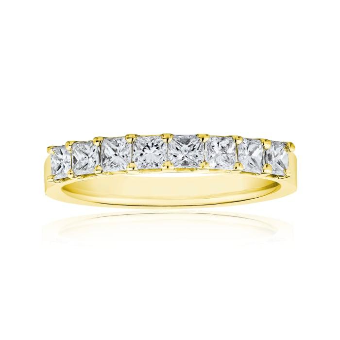 1.20 ct. t.w. Princess-Cut Diamond Ring in 14kt Yellow Gold