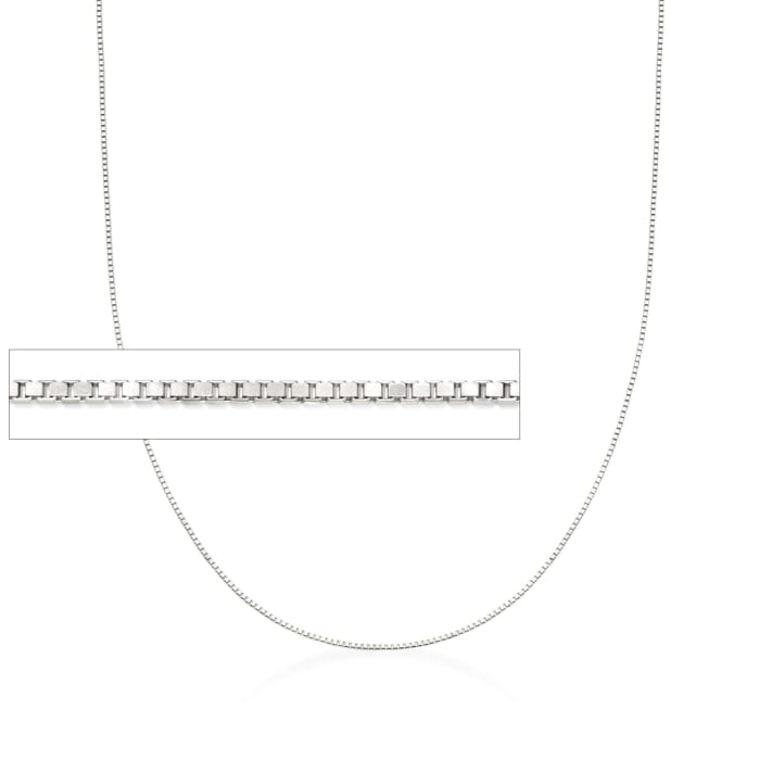 .8mm 14kt White Gold Adjustable Box Chain Necklace