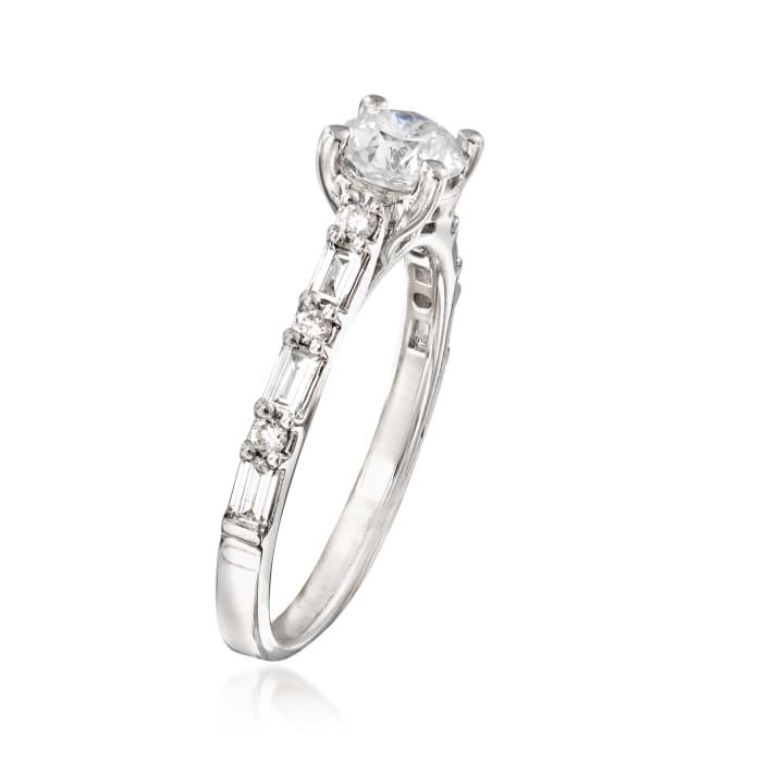 1.09 ct. t.w. Diamond Engagement Ring in 14kt White Gold