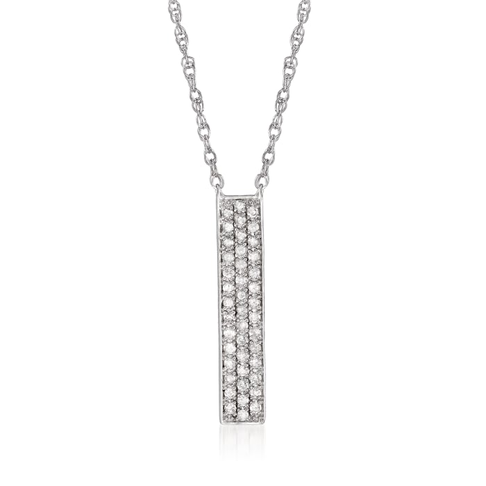.25 ct. t.w. Diamond Vertical Bar Necklace in Sterling Silver