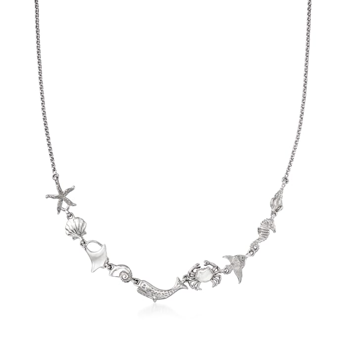 Sterling Silver Sea Life Necklace