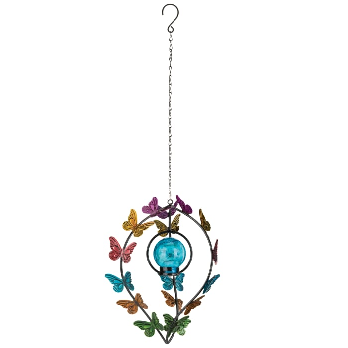 Regal Butterfly Hanging Solar Wind Spinner