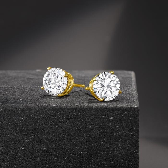 3.00 ct. t.w. Diamond Stud Earrings in 14kt Yellow Gold