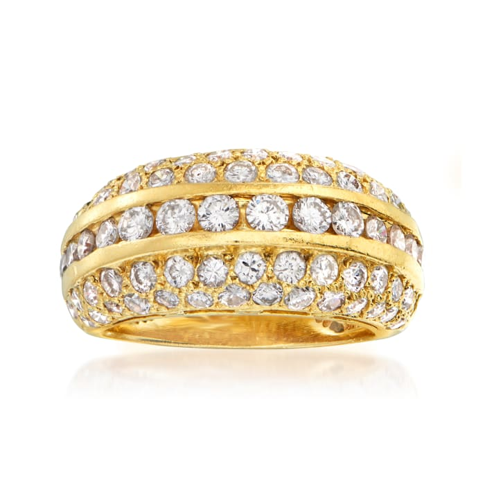 C. 1980 Vintage 2.00 ct. t.w. Diamond Fashion Ring in 14kt Yellow Gold