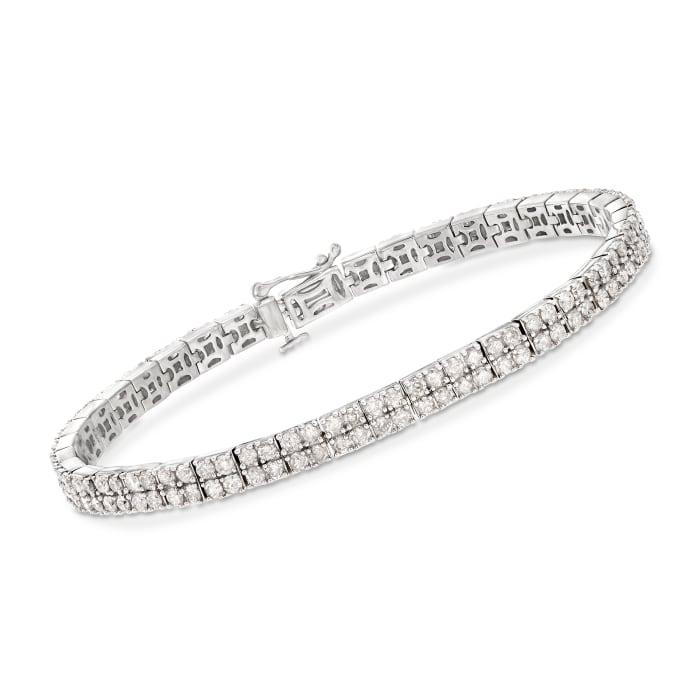 5.00 ct. t.w. Diamond Two-Row Bracelet in Sterling Silver