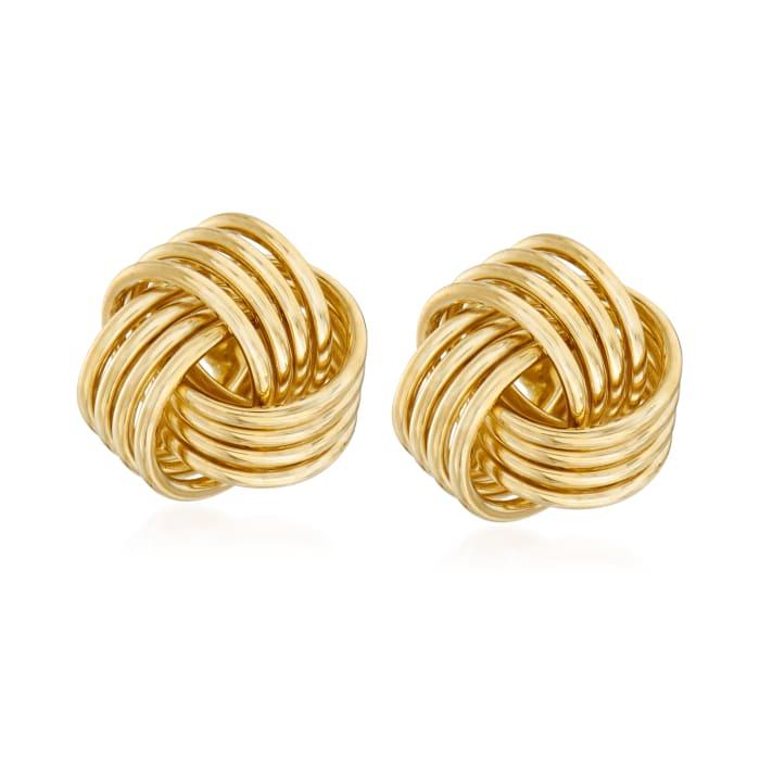 14kt Yellow Gold Love Knot Stud Earrings