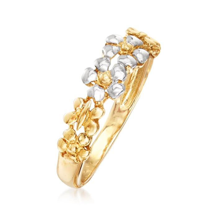 14kt Two-Tone Gold Flower Ring