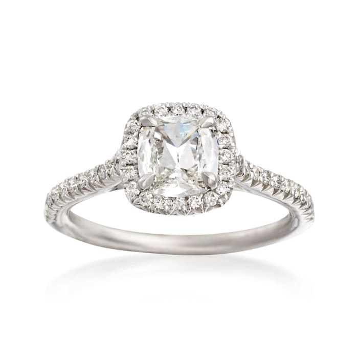 Henri Daussi 1.18 ct. t.w. Certified Diamond Engagement Ring in 18kt White Gold