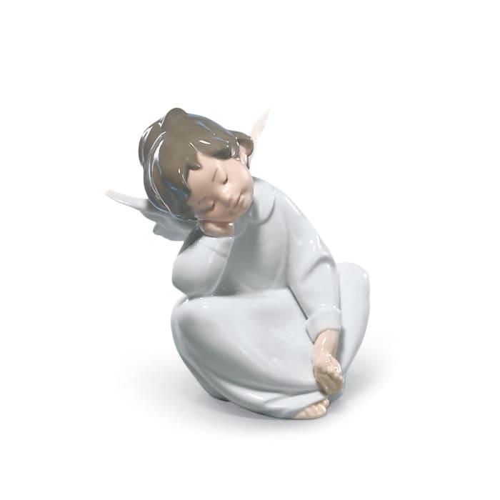 "Lladro ""Angel Dreaming"" Porcelain Figurine"