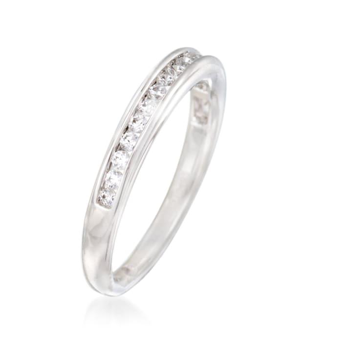 Gabriel Designs .27 ct. t.w. Channel-Set Diamond Wedding Ring in 14kt White Gold
