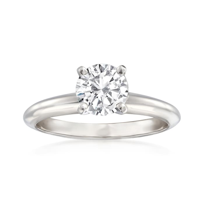 14kt White Gold Four-Prong Engagement Ring Setting