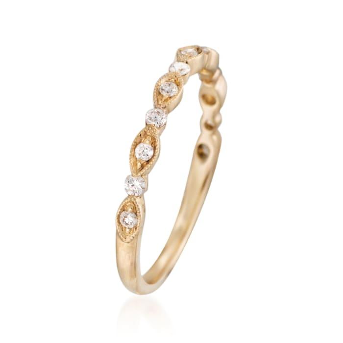 Henri Daussi .20 ct. t.w. Diamond Wedding Ring in 18kt Yellow Gold