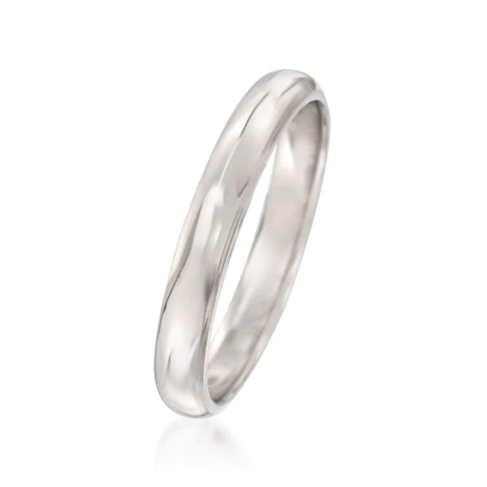 Women's 3mm Platinum Wedding Ring