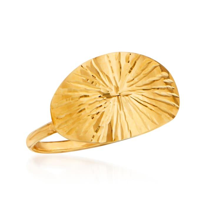 Italian 14kt Yellow Gold Starburst Ring