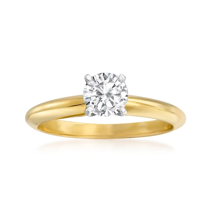 .50 Carat Diamond Solitaire Ring in 14kt Yellow Gold