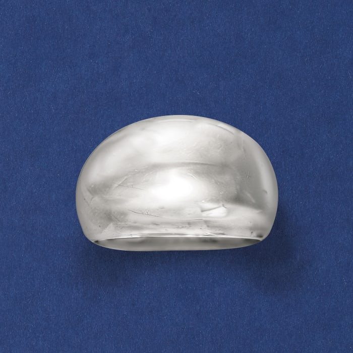 Italian Sterling Silver Dome Ring