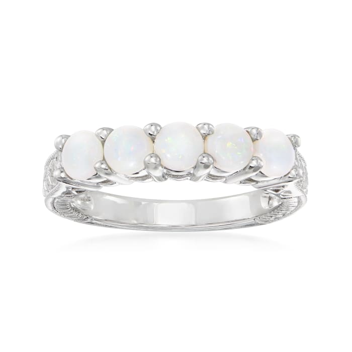 Opal Five-Stone Ring in Sterling Silver