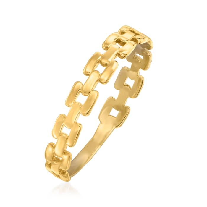 14kt Yellow Gold Square-Link Ring
