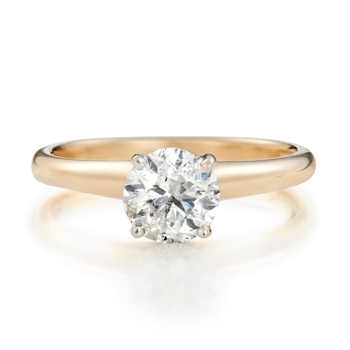 1.00 Carat Diamond Solitaire Ring in 14kt Yellow Gold