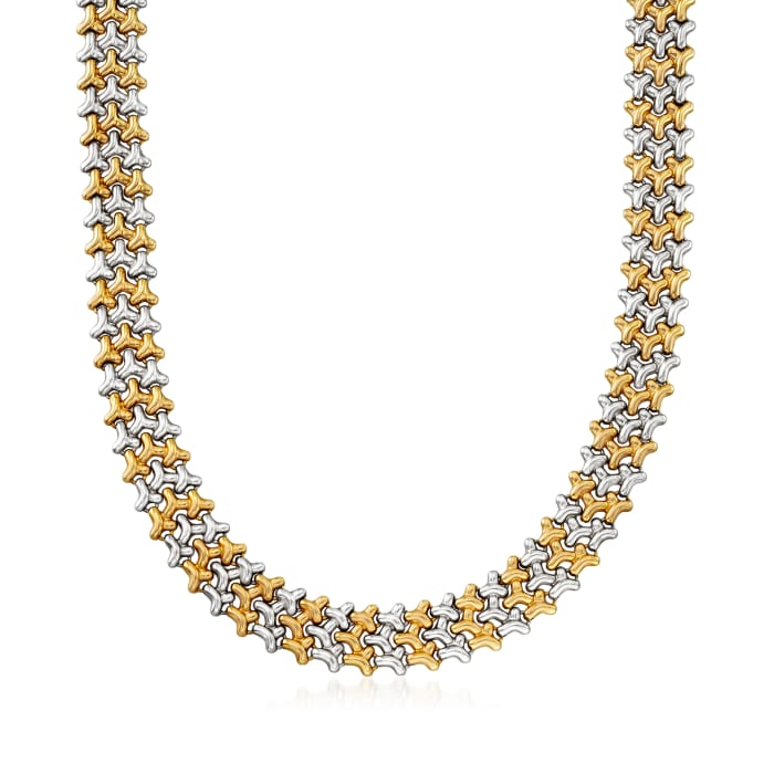 C. 1980 Vintage Chimento 18kt Two-Tone Gold Necklace