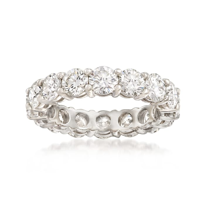 4.22 ct. t.w. Diamond Eternity Band in Platinum
