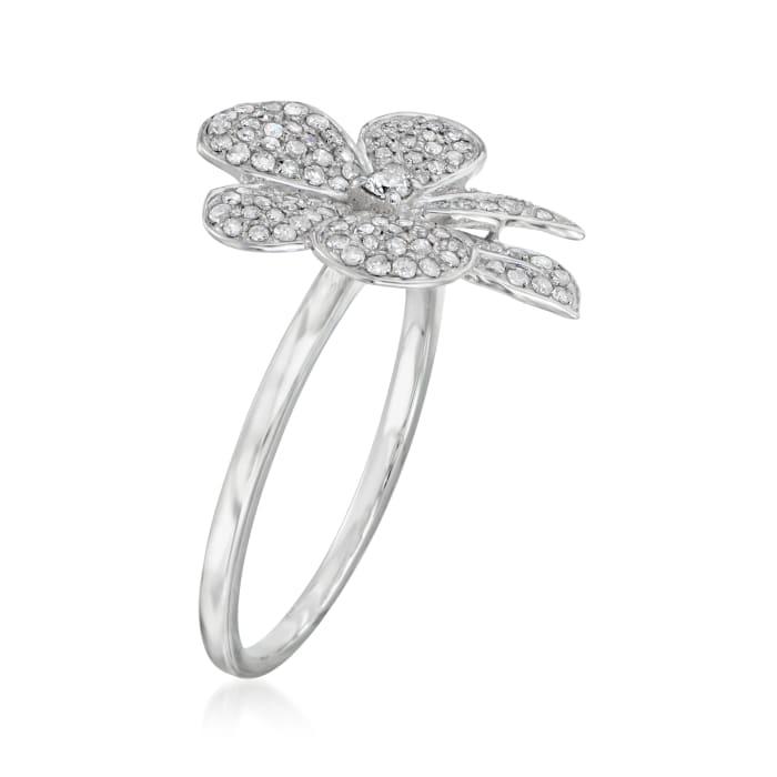 .35 ct. t.w. Diamond Flower Ring in 14kt White Gold