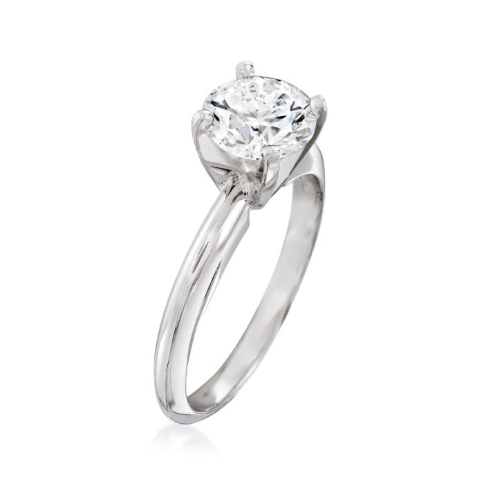 1.32 Carat Certified Diamond Solitaire Ring in Platinum