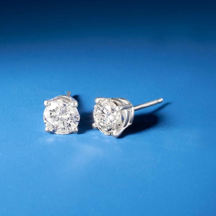 1.40 ct. t.w. Diamond Stud Earrings in Platinum