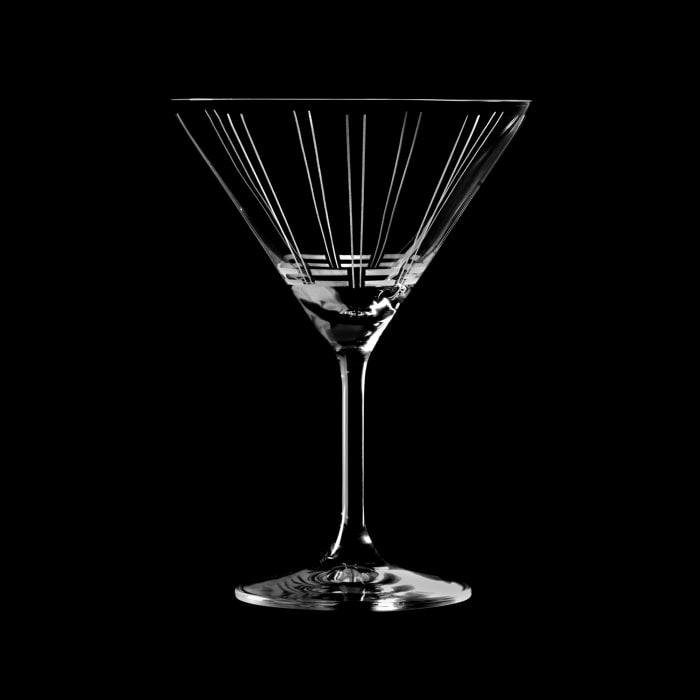 "Mikasa ""Berlin"" Set of 4 Martini Glasses"
