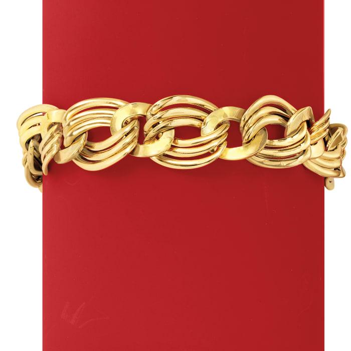 Italian 18kt Yellow Gold Oval-Link Bracelet