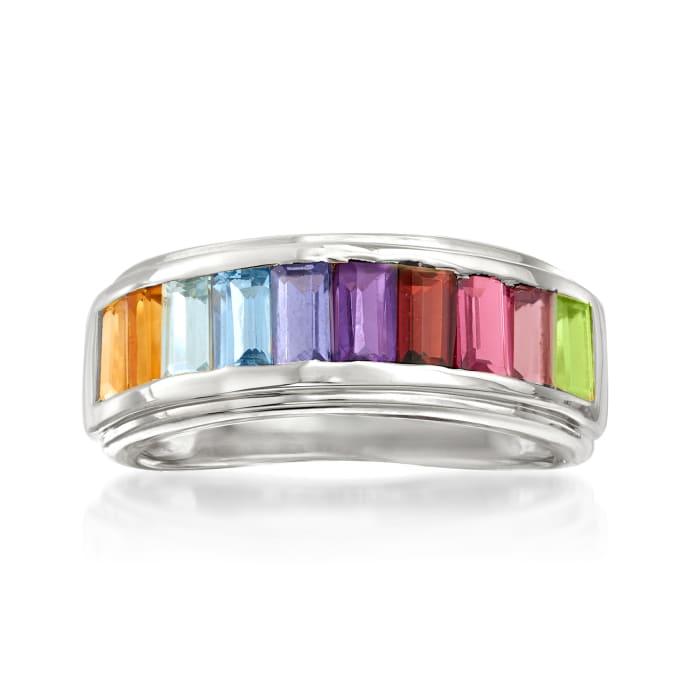 1.70 ct. t.w. Multi-Gemstone Ring in Sterling Silver
