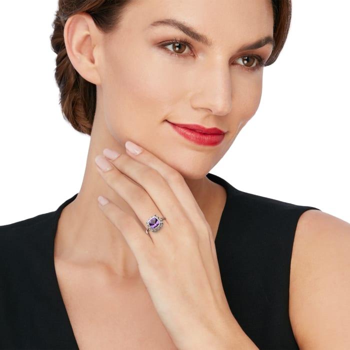"Andrea Candela ""Rioja"" 1.70 Carat Amethyst Ring in Sterling Silver"