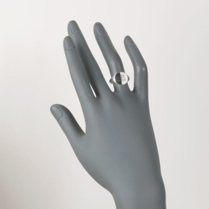 Sterling Silver Petite Monogram Signet Ring