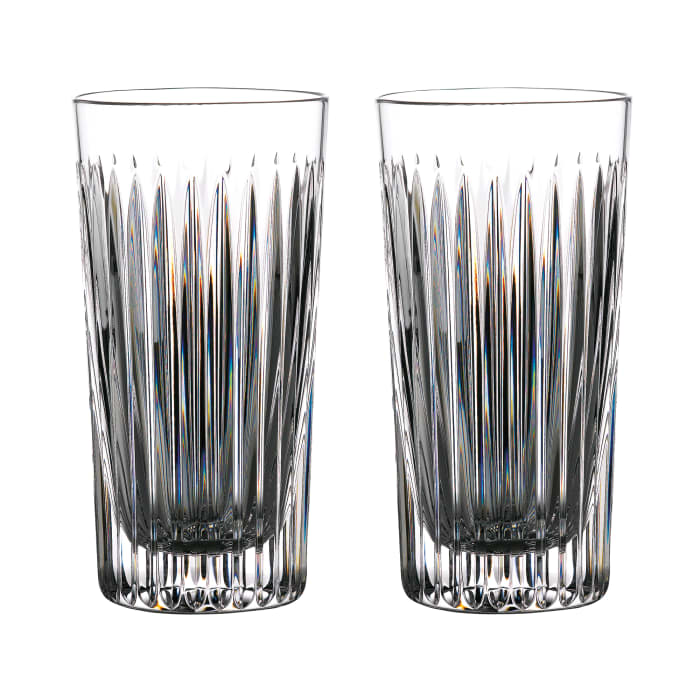 """Waterford Crystal """"Gin Journeys"""" Set of Two Aras Highball Glasses"""