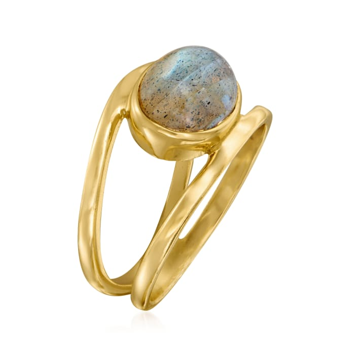 Labradorite Open-Space Ring in 18kt Gold Over Sterling