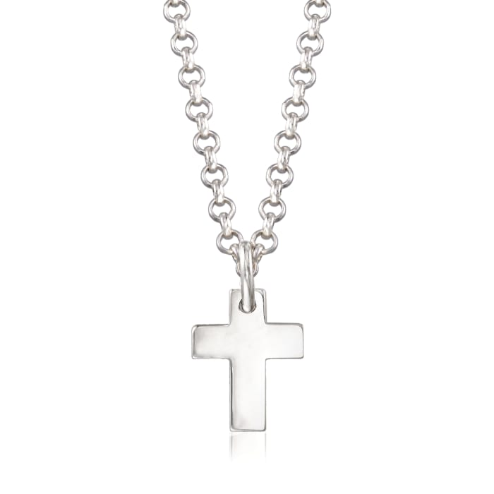 Sterling Silver Jewelry Set: Three Generations Heart and Cross Necklaces