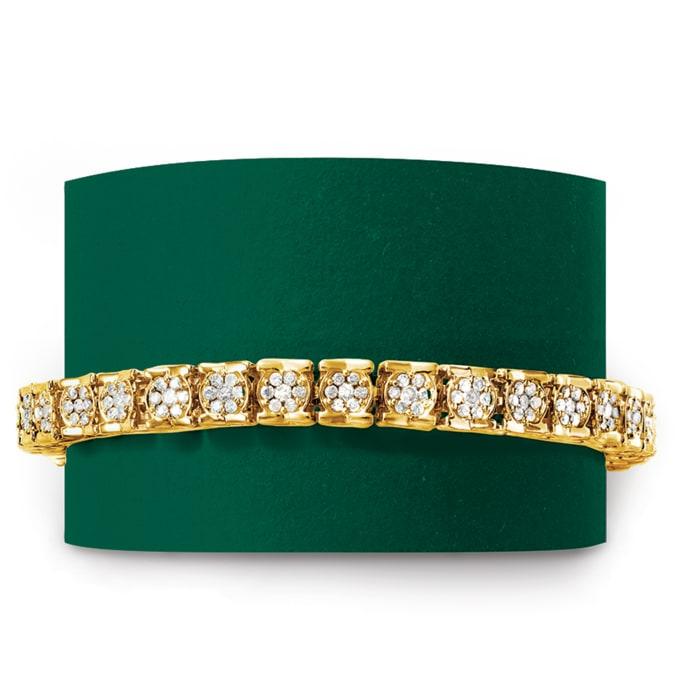 3.00 ct. t.w. Diamond Tennis Bracelet in 18kt Gold Over Sterling