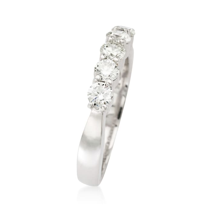 .75 ct. t.w. 5-Stone Diamond Wedding Ring in 14kt White Gold