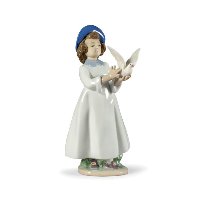 """Nao """"I Help You to Fly"""" Porcelain Figurine"""