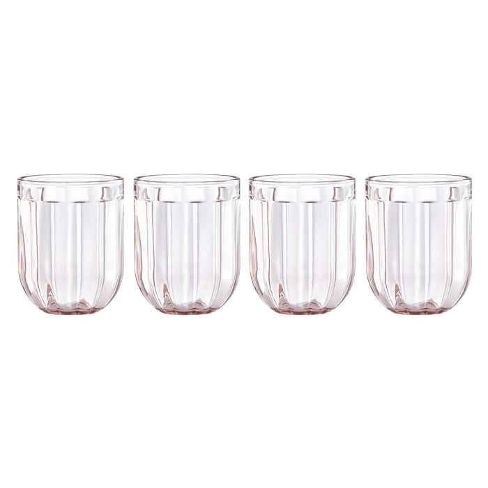 """Kate Spade New York """"Park Circle"""" Set of 4 Rose Double Old-Fashioned Glasses"""